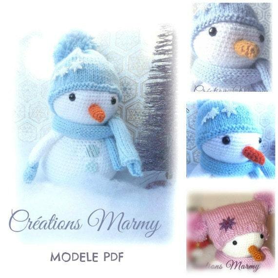Modele pdf bonhomme de neige d coratif patron par creationsmarmy - Modele bonhomme de neige ...