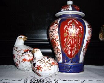 Asian Ginger Jar w/2 Doves