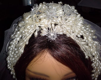 1940's Wedding Headdress