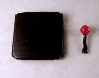 ART DECO bakelite cartridge cigarette case and cherry cigarette holder for collectors of unique vintage accessories