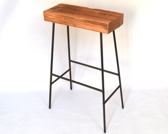 Barnwood Bar Stool - Rustic Industrial Bar Stool - Bar Height, Counter Height, Table Height
