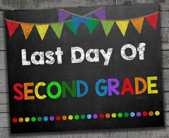 It is a photo of Stupendous Last Day of 2nd Grade Printable