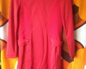 vintage mod dress mid century size s