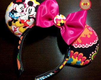 "Vera Bradley Inspired ""Midnight with Mickey"" Mickey Ears"