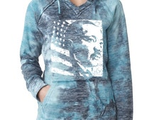 Martin Luther King MLK Day Burnout Hoodies