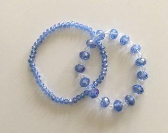 Blue/pink bracelets