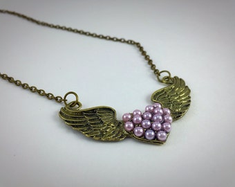 The Winged Heart Necklace