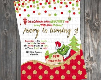 The Grinch Invitation