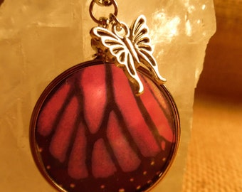 Faux Butterfly Wing Necklace (Realistic Looking/High Quality/Suncatcher)