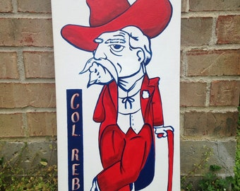 Colonel Reb Ole Miss Wall Art on Canvas