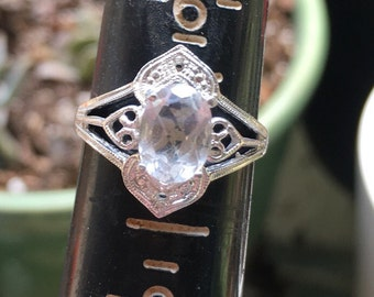 Quartz Crystal Sterling silver ring size 6 1/2