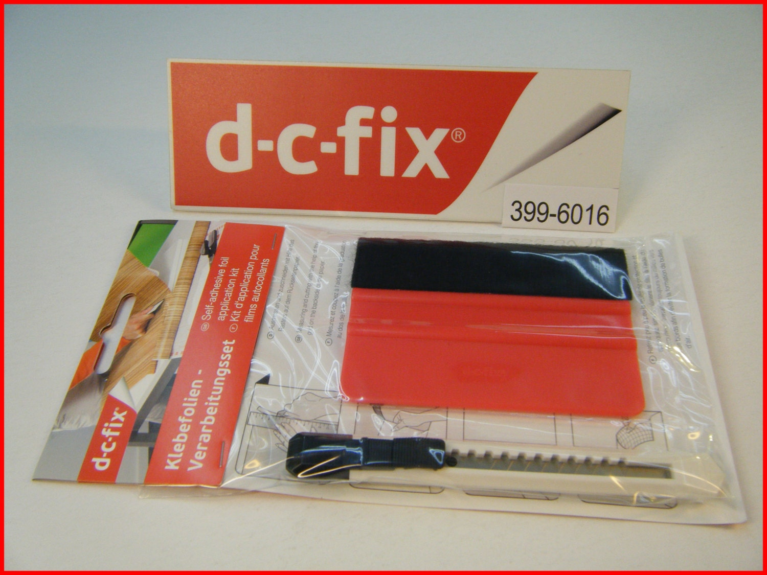 Dc fix application kit tool vinyl squeegee and knife self - Dc fix tischdecken ...