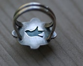Blue Bird - Larimar and Silver Ring