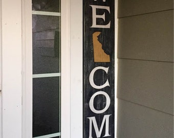 Welcome Sign, Customized Welcome sign, Wood Welcome Sign, State Sign, State Welcome Sign