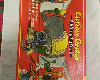 Curious George Adventures  Board Game (featuring 2 different games to play) in EUC (RoseArt)