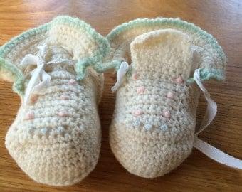 Vintage Crocheted Booties