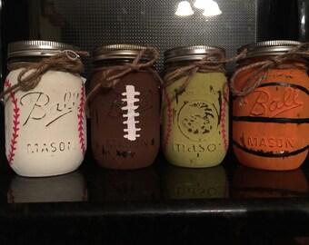 Sports Mason Jar