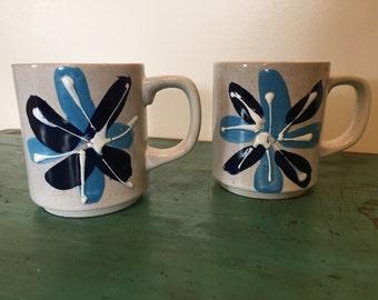 Blue Flower Mugs Japan