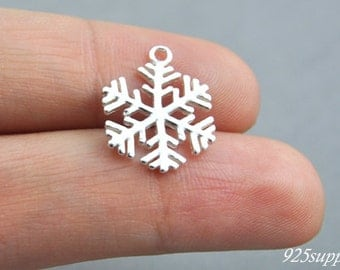 925 Sterling Silver Snowflake Charm, Silver snowflake Charm, Bracelet snowflake, Silver snowflake, Necklace snowflake Charm, snowflake,