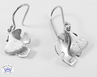 Fig & leaf earrings
