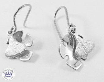 Fig & leaf earrings