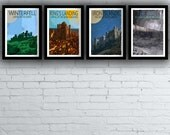 Game of Thrones Retro Style Travel Posters / Prints / Set (All Four)