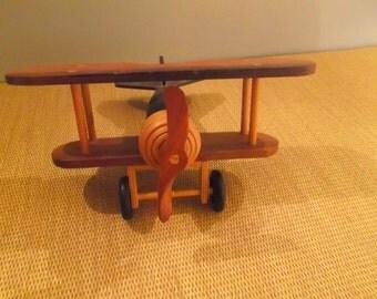 Wooden Toy  Biplane