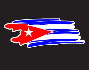 Cuba Flag Car sticker