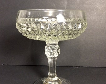 Cut glass compote or pedestal bowl