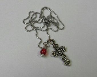 Cross w/bead Necklace