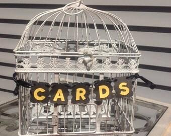 Bird cage Card Holder, Wedding Card holder, Bridal Shower Card holder, Large Birdcage, Antique Look cage.