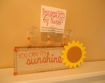 You are my Sunshine picture frame, personalized picture frame, custom frame, nursery picture frame, Sunshine picture frame, frame