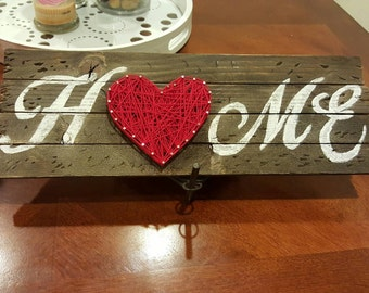 "Vintage Rustic ""Home"" Wood Sign Homemade"