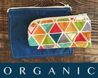 SALE!! Organic Snack Bag Set - Zero Waste Lunch - Ready to Ship