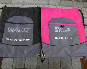 Personalized Drawstring Bag, Sports drawstring bag, Customized drawstring bag