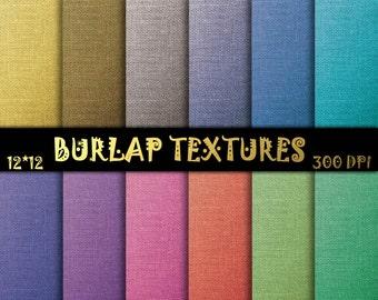 Jute scrapbook paper, Burlap Digital Papers, Fabric texture, Burlap scrapbook,  Jute  Digital Papers, Color burlap papers,Jute digital paper