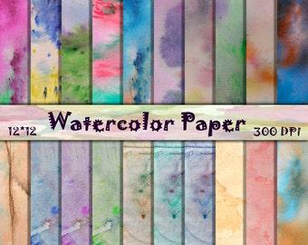 Summer Watercolor Textures Watercolor Digital Papers Tie dye scrapbooking Shabby Digital Paper Watercolor Digital Backgrounds 12x12