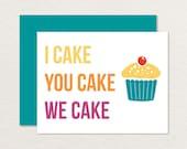 Printable Birthday Card / Funny Birthday Card / Birthday Cake Card / Birthday for Friend / Dance Party Birthday A2 / Cupcake Card