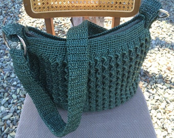 crochet handmade raffia purse