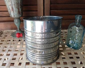 Vintage Sifter Vintage Bromwell Vintage Sifter Kitchen Tool Vintage Kitchen Measuring Sifter Prop
