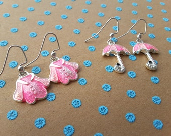 April Showers Set - Pink . Earrings