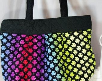 Shamrock purse shamrock shoulder bag shamrock quilted rainbow bag St Patricks Day purse tote