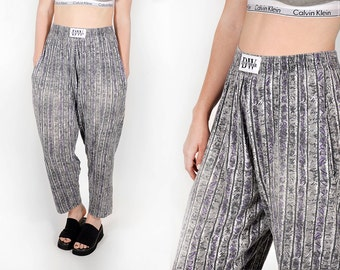 80's Graphic Baggy MC Hammer pants pockets Soft