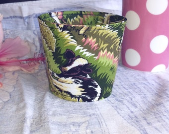 Reversible Reusable Coffee Cup Cozy - Lazy Cow