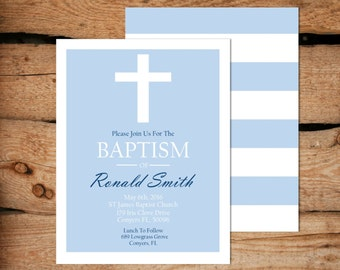 Boy Baptism Invitation / Baptism Invitation Boy / Printable Baptism Invitation / Baptism Invitation For Boy / Christening Invite