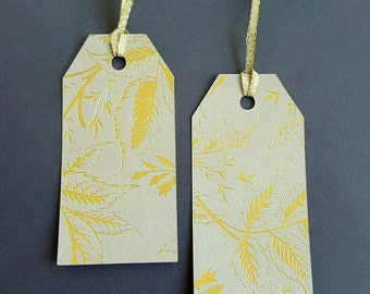 """Thanksgiving gift tag - Fall inspired gift tags - 10 large tags 4"""" x 2"""" - Thanksgiving gift tags - Autumn Tags"""