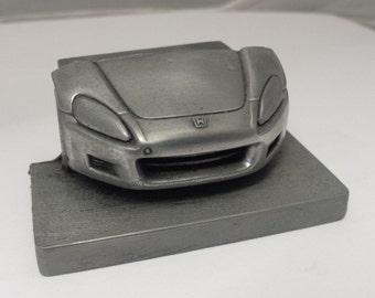 Honda S2000 Pewter Effect Car Pen Holder Business card holder for desk work etc