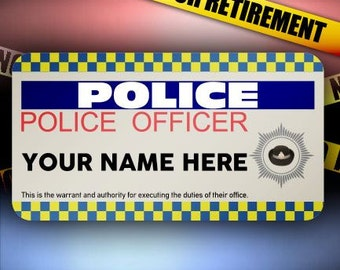 Police Office Male/female Happy Retirement, Birthday,New Job A5 Personalised Greeting Card PidPOL1