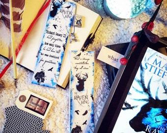 The raven king bookmark - Handmade