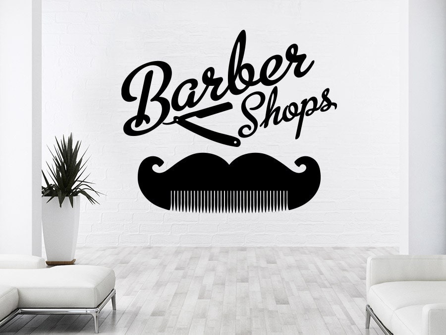 Barber Shop Wall Decal Hairdressing Salon Vinyl Sticker Decals - Custom vinyl wall decals for hair salonvinyl wall decal hair salon stylist hairdresser barber shop